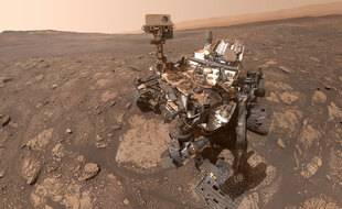 Un selfie du rover Curiosity sur Mars.