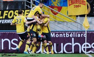 Les Sochaliens célèbrent l'un de leurs buts marqués contre Nice le 18 mars 2012.