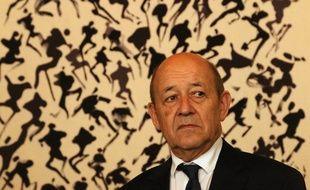 Le ministre des Affaires étrangères français Jean-Yves Le Drian le 11 février 2018 à Séoul.