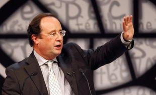 Francois Hollande au congrès de Reims, le 14 novembre 2008.