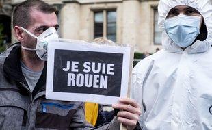 Manifestation à Rouen