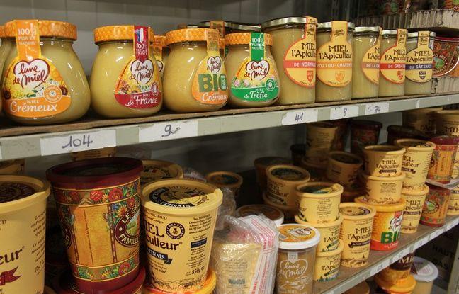 Quelques produits de Famille Michaud Apiculteurs, dans leur usine de Gan (Pyrénées-Atlantiques).