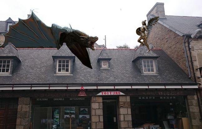 Une fois réalisé, le dragon sera installé sur le toit de l'atelier de Yann Hoccry.