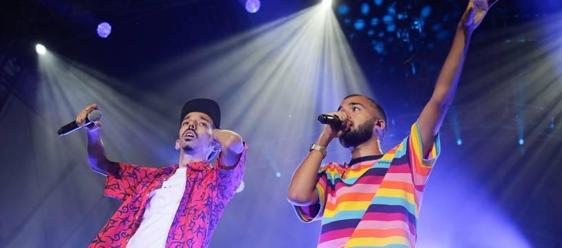 Bigflo & Oli lors du concert du 14-Juillet donné à Toulouse, leur ville natale.
