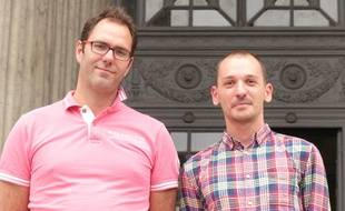 Lyon, le 10 juin 2016. Francois Devaux et Pierre-Emmanuel Germain Thill sont deux victimes présumées du père Prreynat.