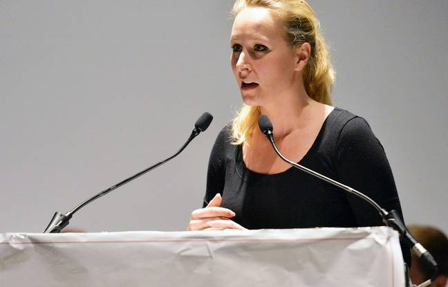 Marion Maréchal-Le Pen lors d'un meeting à Vienne (Isère), le 15 avril 2017.