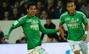 Pierre-Emerick Aubameyang et Brandao sous le maillot des Verts, le 3 novembre 2012