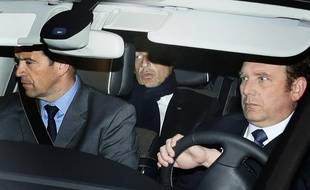 Nicolas Sarkozy à sa sortie du palais de justice de Bordeaux, le 21 mars 2013.