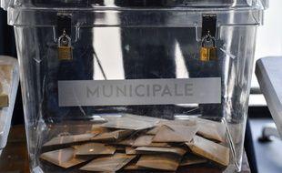 Une urne pour les élections municipales. (illustration)