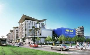 Illustration du futur magasin Ikea de la Plaine du Var