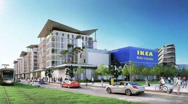 Video nice le futur magasin ikea de la plaine du var se for Ikea houston heures de magasin