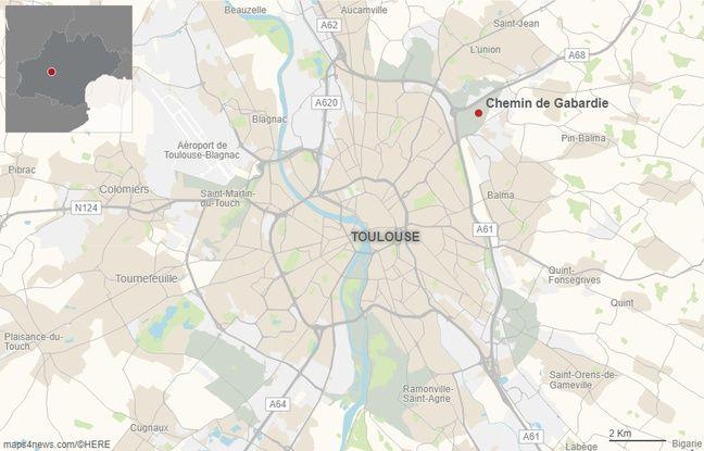 Le chemin de Gabardie, au nord de Toulouse.