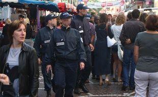 Illustration d'une patrouille de police à Lille.
