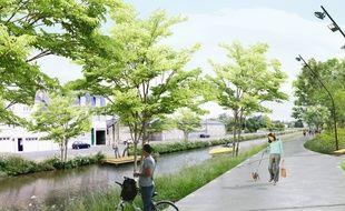 Les berges du canal Saint-Martin seront aménagées pour les piétons et les cyclistes.