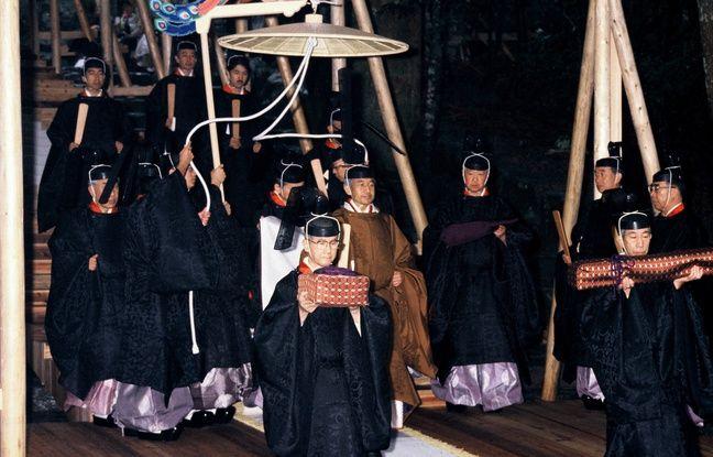 La cérémonie de couronnement de l'empereur Akihito, en novembre 1990.
