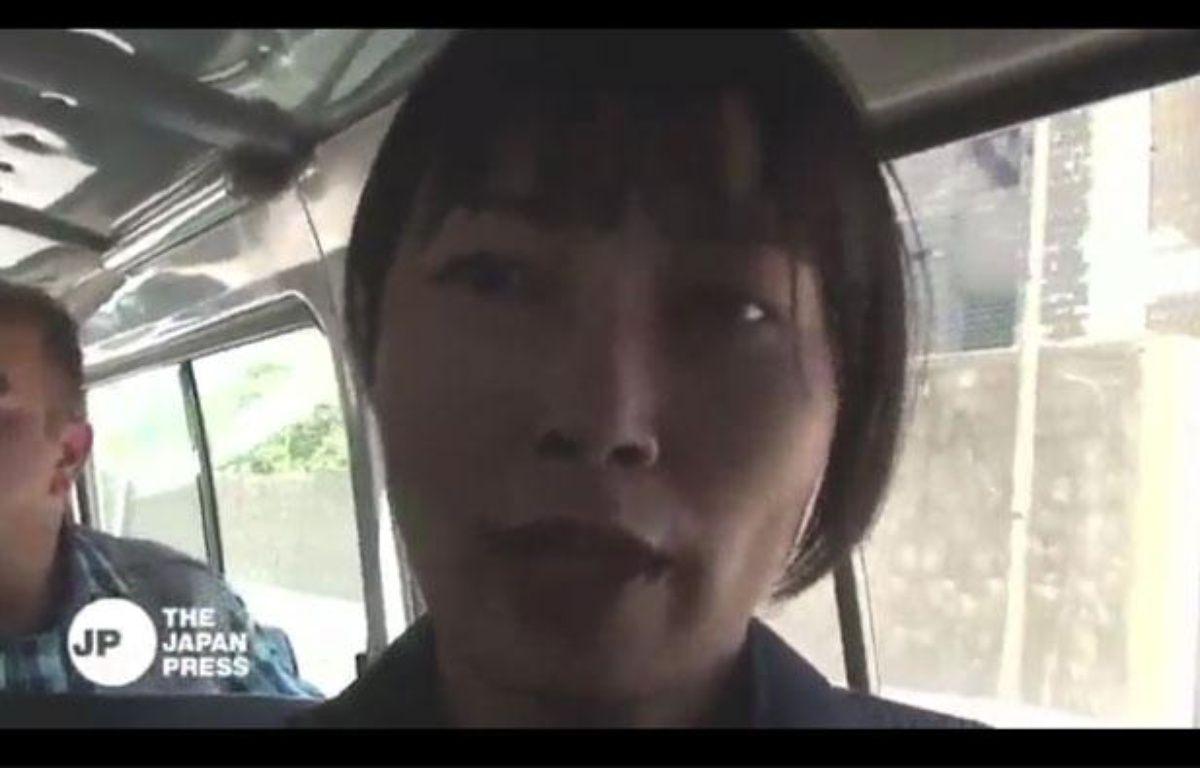 La journaliste japonaise Mika Yamamoto à Alep, en Syrie, le 20 août 2012. – AFP