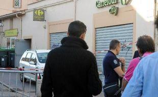 La supérette dans laquelle un braqueur armé a été tué le 17 octobre 2014 à Toulouse
