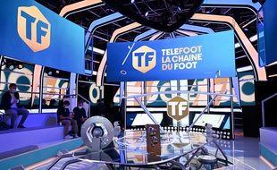 Le studio principal de Téléfoot, la chaîne, en août 2020