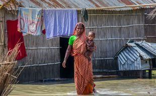 Inondations au Bengladesh (illustration).