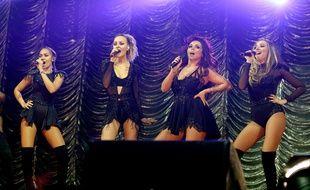 Les Little Mix (Leigh-Anne Pinnock, Perrie Edwards, Jesy Nelson et Jade Thirlwall), en concert à Manchester (Angleterre), le 11 décembre 2015.