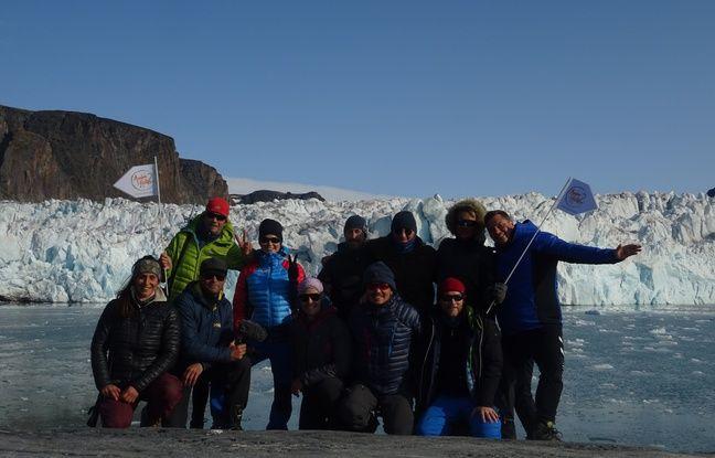 La bande du projet Hustive au complet, en août dans l'archipel du Svalbard.