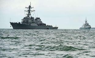 Le destroyer américaine John S. McCain qui est entré en collision avec un pétrolier le 20 août 2017.