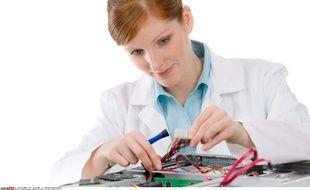 illustration d'une femme ingénieur