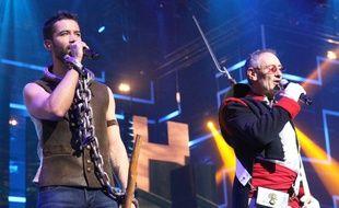 Emmanuel Moire, lors du concert des Enfoirés à la Park&Suites Arena