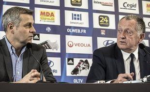 Bruno Genesio avait été présenté à la presse par Jean-Michel Aulas en tant qu'entraîneur principal de l'OL le 28 décembre 2015.