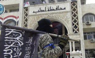 Un drapeau du Front al-Nosra (illustration).
