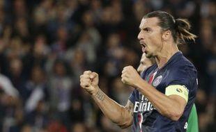 Zlatan Ibrahimovic a inscrit un triplé lors de la large victoire du PSG contre Saint-Etienne (5-0), lors de la 4e journée de Ligue 1, le 31 août 2014.