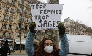 Une sage-femme lors de la manifestation du 26 janvier 2021 à Paris (illustration).