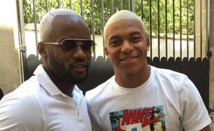 Kylian Mbappé et son demi-frère Jirès Kembo.