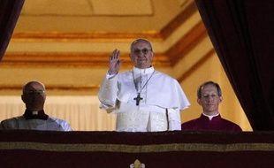 Jorge Mario Bergoglio, nouveau pape élu le 13 mars 2013.