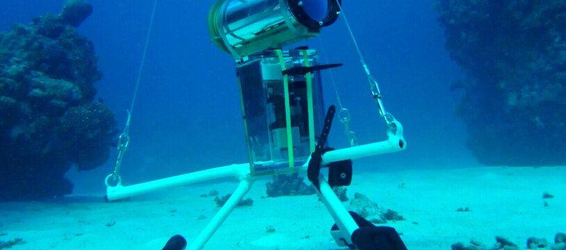 Le STAVIRO déposé sur un fond de sable à proximité des récifs de l?Astrolabe en Nouvelle-Calédonie