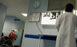 Les Urgencesde l'hôpital Manchester de Charleville-Mézières, le 28 janvier 2010.