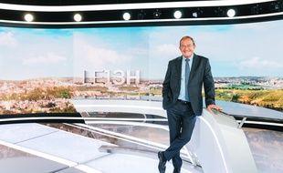 Jean-Pierre Pernaut sur le plateau du «13 Heures» de TF1.