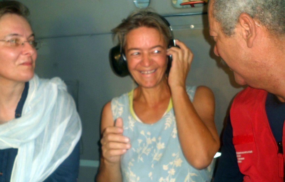 La Suissesse Béatrice Stockly en avril 2012, après son premier enlèvement au Mali. – ROMARIC OLLO HIEN / AFP