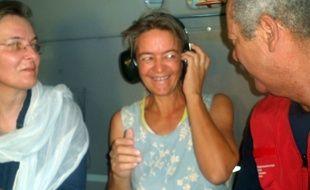 La Suissesse Béatrice Stockly en avril 2012, après son premier enlèvement au Mali.