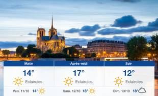 Météo Paris: Prévisions du jeudi 10 octobre 2019