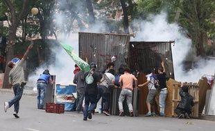 2 juin 2013 - Des affrontements ont opposé policiers et manifestants à Ankara (Turquie).