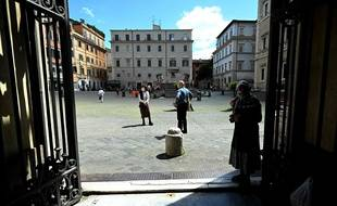 Le quartier de Trastevere à Rome, le 3 mai 2020.