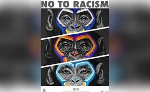Ces singes peints par l'artiste italien Simone Fugazzotto font partie d'une campagne antiraciste de la ligue italienne de football.