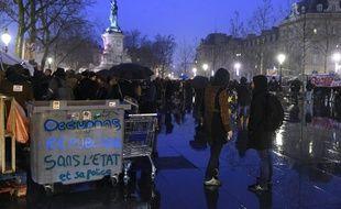Le collectif Nuit Debout, sur la place de la République, à Paris.