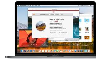 Vérifier que la version de MacOS High Sierra est bien la 10.13.1, build «17B1002».