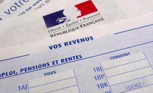 Formulaire de déclaration de revenus.