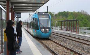Une station de tram-train sur la ligne Nantes-Châteaubriant (illustration).