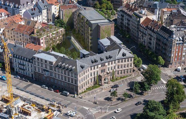 Vue aérienne du projet de rénovation