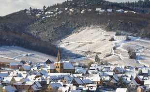 L'Alsace sous la neige (illustration).