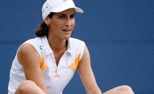 La Française Virgine Razzano, lors de sa défaite face à Dinara Safina, le 4 septembre 2006 à l'US Open.